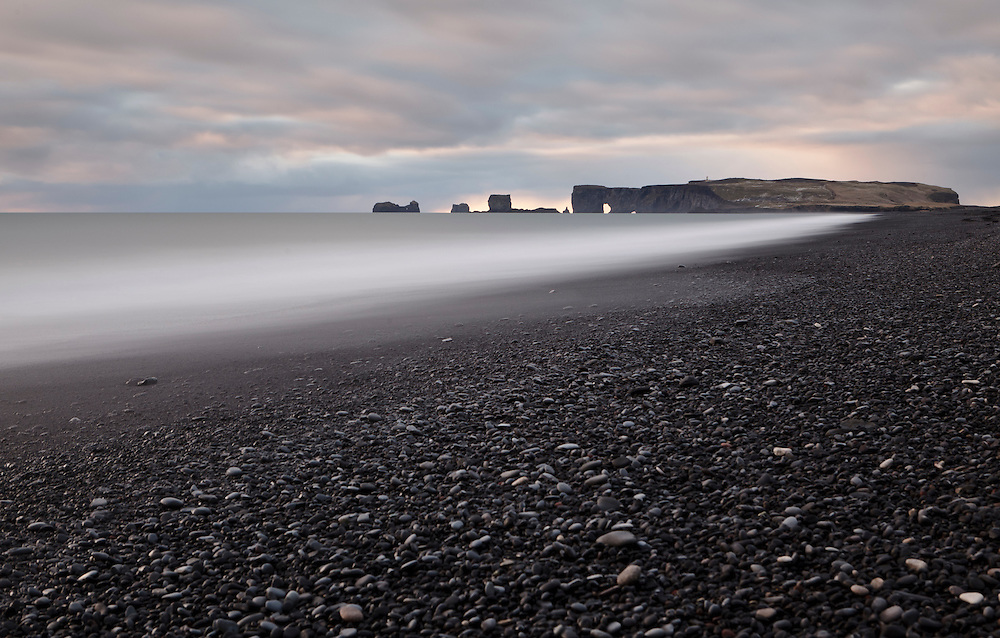 Long exposure shot at Reynisfjara
