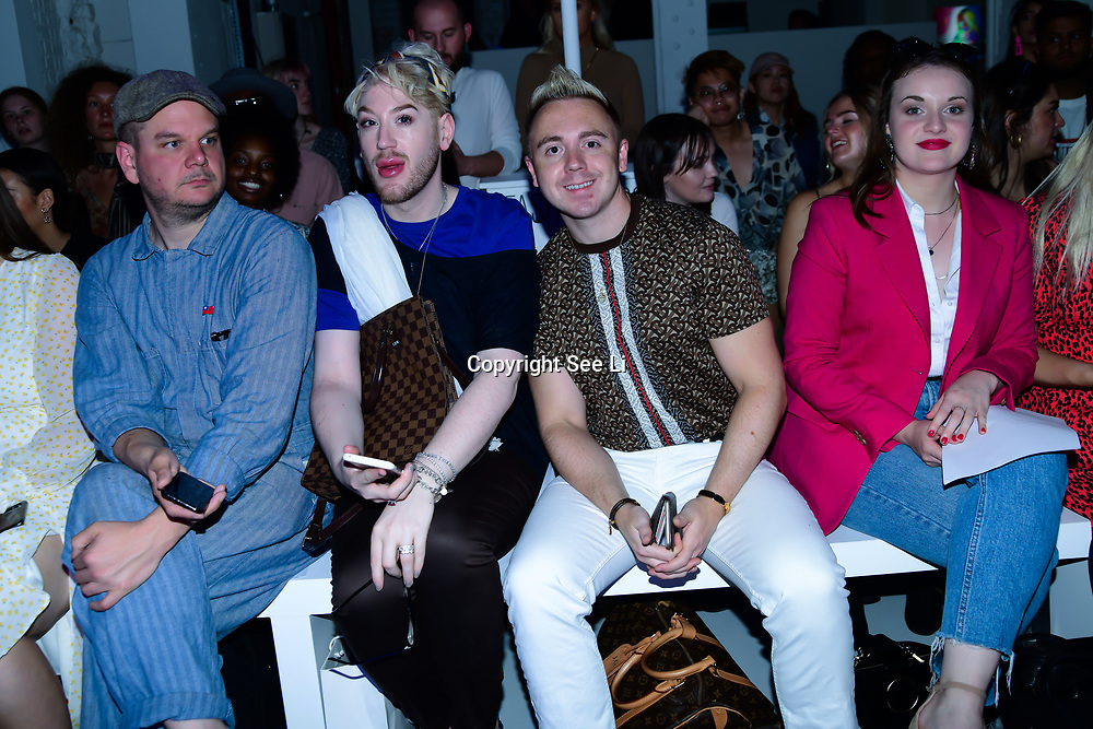 Lewis-Duncan weedon,John Galea attend Backstage at Fashion Scout - SS19 Day 3, on 15 September 2019, London, UK