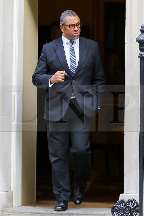 © Licensed to London News Pictures. 17/09/2019. London, UK. Minister Without Portfolio JAMES CLEVERLY departs from No 10 Downing Street after attending the weekly Cabinet Meeting. Photo credit: Dinendra Haria/LNP