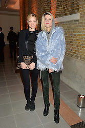 Left to right, JESSICA STAM and ALISON MOSSHART at the Future Contemporaries Party in association with Coach at The Serpentine Sackler Gallery, West Carriage Drive, Kensington Gardens, London on 21st February 2015.