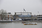 Putney/Barnes,  Great Britain, GV's from Bishops Park over the River towards Putney Hard, morning of the 2008 Head of the River Race. Raced from Mortlake to Putney, over the Championship Course.  15/03/2008  [Mandatory Credit. Peter Spurrier/Intersport Images] Rowing Course: River Thames, Championship course, Putney to Mortlake 4.25 Miles,