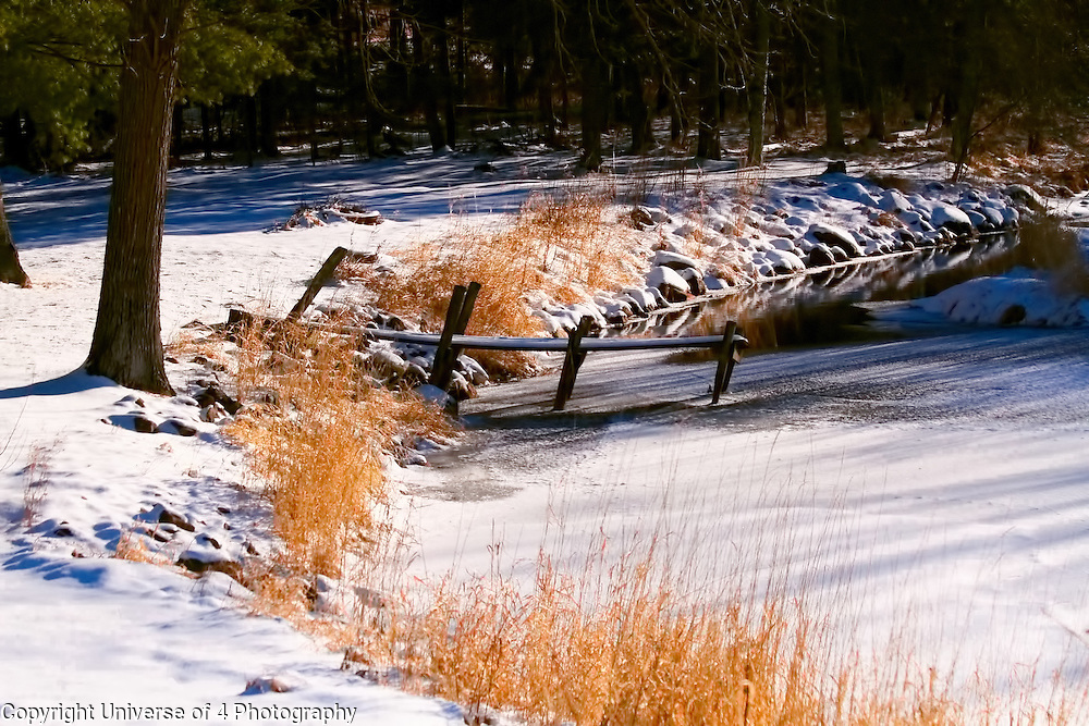 A dock on the Grindstone river in east central Minnesota.