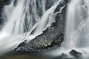 Waterfall  along the road<br /> along the Cassiar Highway<br /> British Columbia<br /> Canada
