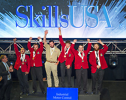 The 2017 SkillsUSA National Leadership and Skills Conference Competition Medalists were announced Friday, June 23, 2017 at Freedom Hall in Louisville. <br /> <br /> Industrial Motor Control<br /> <br /> Alec J Burkhart<br />   High School Admiral Peary Vo-Tech<br />   Gold Ebensburg, PA<br /> Industrial Motor ControlWyatt West<br />   High School Earnest Pruett Center of Technology<br />   Silver Hollywood, AL<br /> Industrial Motor ControlChristian Verdon<br />   High School Westfield Technical Academy<br />   Bronze Westfield, MA<br /> Industrial Motor ControlCauley Mayo<br />   College East Central Community College<br />   Gold Decatur, MS<br /> Industrial Motor ControlChristopher Matherley<br />   College Tennessee College of Applied Tech-Chattanooga<br />   Silver Chattanooga, TN<br /> Industrial Motor ControlJacey Rector<br />   College Iowa Central Community College<br />   Bronze Fort Dodge, IA