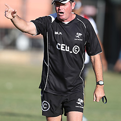 DURBAN, SOUTH AFRICA - APRIL 07: Sean Everitt (Assistant Coach) of the Cell C Sharks during the Cell C Sharks training and interview session at Growthpoint Kings Park on April 07, 2014 in Durban, South Africa. (Photo by Steve Haag/Gallo Images)