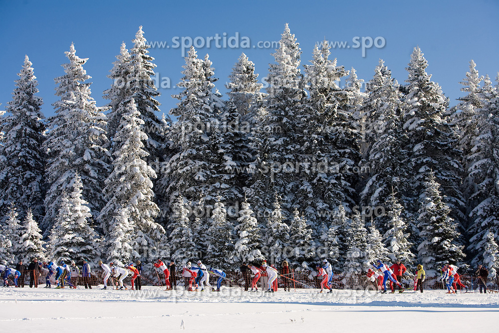 Skiers at Men 30 km Classic Mass Start Competition of Viessmann Cross Country FIS World Cup Rogla 2009, on December 20, 2009, in Rogla, Slovenia. (Photo by Vid Ponikvar / Sportida)