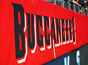 Tampa Bay Buccaneers logo during an NFL International Series game against the Carolina Panthers at Tottenham Hotspur Stadium, Sunday, Oct. 13, 2019, in London.  The Panthers defeated the Buccaneers 37-26. (Gareth Williams/Image of Sport)