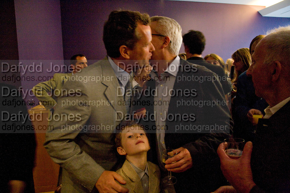 TEDDY ST AUBYN AND ALAN  HOLLINGHURST, Matthew Carr: New Work. Marlborough Gallery. Albermarle St. London. 24 June 2008.  *** Local Caption *** -DO NOT ARCHIVE-© Copyright Photograph by Dafydd Jones. 248 Clapham Rd. London SW9 0PZ. Tel 0207 820 0771. www.dafjones.com.