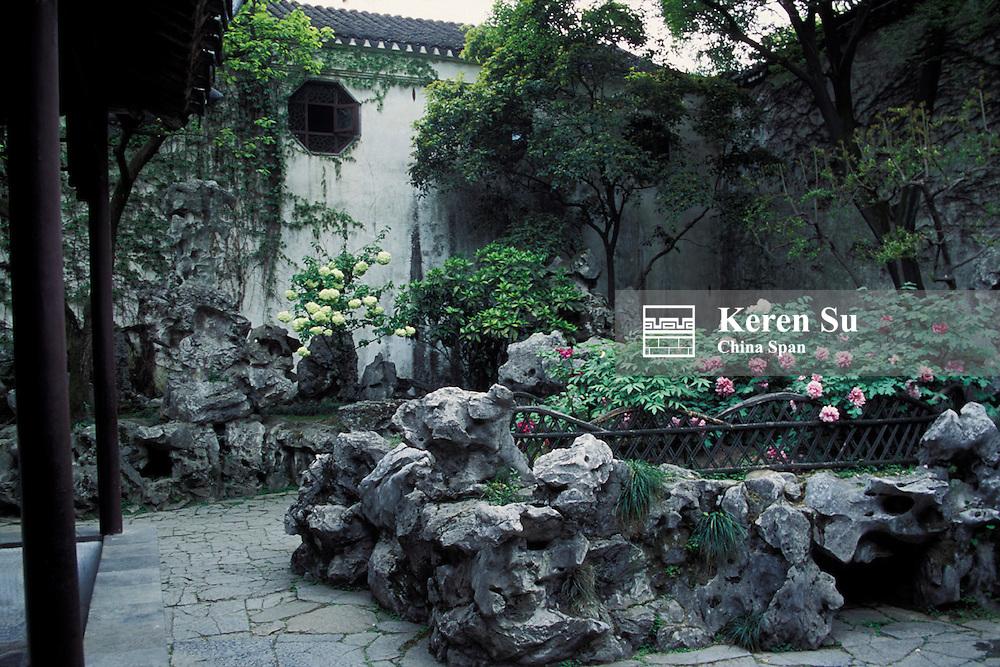 Landscape in Liu Yuan Garden (Garden for Lingering in), Suzhou, Jiangsu Province, China