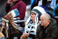 A general view of Exeter Chiefs supporters in the crowd - Mandatory byline: Patrick Khachfe/JMP - 07966 386802 - 31/12/2016 - RUGBY UNION - The Recreation Ground - Bath, England - Bath Rugby v Exeter Chiefs - Aviva Premiership.