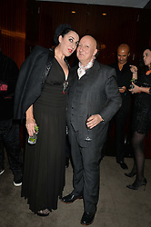 ROSSY DE PALMA and STEPHEN JONES at a dinner hosted by Liberatum to honour Francis Ford Coppola held at the Bulgari Hotel & Residences, 171 Knightsbridge, London on 17th November 2014.