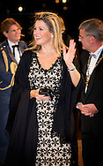 8-11-2014 - UTRECHT Queen Máxima attends Saturday, November 8, 2014 the Final Gala evening at the 10th International Franz Liszt Piano Competition in Utrecht. COPYRIGHT ROBIN UTRECHT