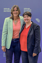 Edinburgh Book Festival, Tuesday, 13th August 2019<br /> <br /> Pictured: Scottish Conservative leader Ruth Davidson and Olympic rower Katherine Grainger<br /> <br /> Alex Todd | Edinburgh Elite media