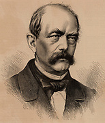 Otto Edward Leopold von Bismarck (1815-98) German/Prussian statesman.  Creator of modern Germany and Chancellor of Germany 1871-1890. Portrait engraving  published in 1886, the year of German reorganisation. From 'The Illustrated London News' (London, 1866.