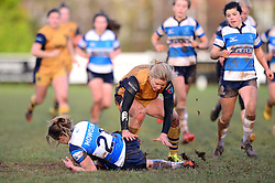 Claire Molloy of Bristol Ladies closes down the ball - Mandatory by-line: Dougie Allward/JMP - 11/12/2016 - RUGBY - Cleve RFC - Bristol, England - Bristol Ladies v Darlington Mowden Park Ladies - RFU Women's Premiership