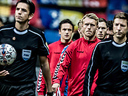 FOOTBALL: Captain Simon Kjær (Denmark) leads his team to the pitch before the World Cup 2018 UEFA Qualifier Group E match between Denmark and Romania at Parken Stadium on October 8, 2017 in Copenhagen, Denmark. Photo by: Claus Birch / ClausBirch.dk.