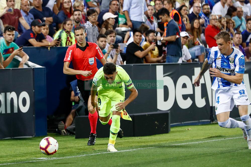 September 26, 2018 - Munir of FC Barcelona during the La Liga (Spanish Championship) football match between CD Leganes and FC Barcelona on September 26th, 2018 at Municipal Butarque stadium in Madrid, Spain. (Credit Image: © AFP7 via ZUMA Wire)