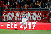 Mariano DIAZ MEJIA (Olympique Lyonnais) missed a new goal during the French championship L1 football match between Rennes v Lyon, on August 11, 2017 at Roazhon Park stadium in Rennes, France - Photo Stephane Allaman / ProSportsImages / DPPI