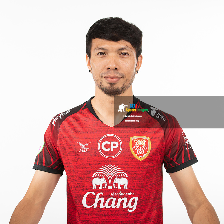 THAILAND - MARCH 05: Narong Chanawaeak #8 of Police Tero FC on March 05, 2019.<br /> .<br /> .<br /> .<br /> (Photo by: Naratip Golf Srisupab/SEALs Sports Images/MB Media Solutions)