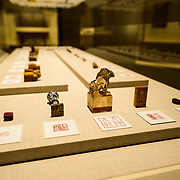 Sackler Gallery Quing Dynasty Seals. Quing Dynasty seals. The Arthur M. Sackler Gallery, located behind the Smithsonian Castle, showcases ancient and contemporary Asian art. The gallery was founded in 1982 after a major gift of artifacts and funding by Arthur M. Sackler. It is run by the Smithsonian Institution.