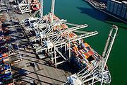 Nederland, Zuid-Holland, Rotterdam, 18-02-2015; Eerste Maasvlakte, Coloradoweg en Amazonehaven. ECT Delta Terminal, Europe Container Terminals. <br /> luchtfoto (toeslag op standard tarieven);<br /> aerial photo (additional fee required);<br /> copyright foto/photo Siebe Swart