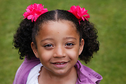 Portrait of happy young girl,