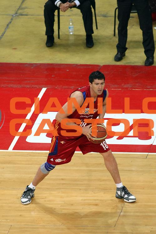 DESCRIZIONE : Pesaro Lega A1 2008-09 Scavolini Spar Pesaro Lottomatica Virtus Roma<br /> GIOCATORE : Roberto Gabini<br /> SQUADRA : Lottomatica Virtus Roma <br /> EVENTO : Campionato Lega A1 2008-2009<br /> GARA : Scavolini Spar Pesaro Lottomatica Virtus Roma<br /> DATA : 23/11/2008<br /> CATEGORIA : Palleggio<br /> SPORT : Pallacanestro<br /> AUTORE : Agenzia Ciamillo-Castoria/C.De Massis