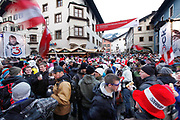 Austria , Kitzbuhel ,  Downhill ski world cup.