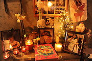 SUN-STAR PHOTO BY BEA AHBECK<br /> Mona's memorial display is decorated for Christmas on Christmas eve Dec. 24, 2010.