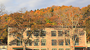 Another example of the beautiful contrast between this old masonry building and the autumn colors of the Munising hillside.