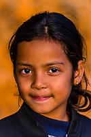 8 year old Nepalese girl, Lekhnath, Kathmandu Valley, Nepal.