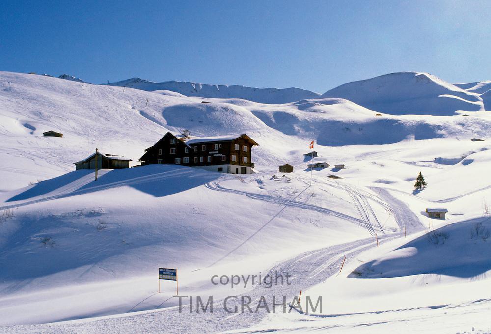 Berghaus Heuberge in Alpine ski resort of Klosters, Switzerland