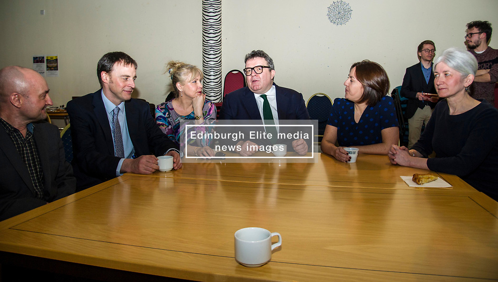 Pictured: Kezia Dugdale and Tom Watson get to know the local candidates<br /> Scottish Labour leader Kezia Dugdale, MSP,  and Tom Watson, MP deputy leader of the Labour Party, visited Edinburgh's Serenity cafe today to meet and encourage Labour candidates ffor the upcoming local elections;<br /> Ger Harley | EEm 27 March 2017