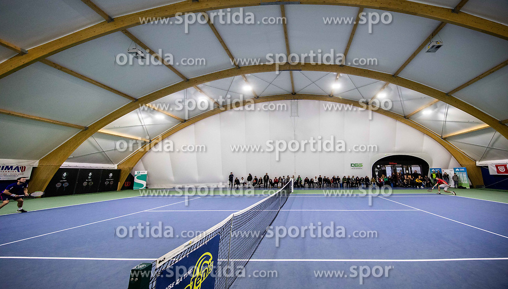 Tom Kocevar Desman and Aljaz Jeran in action at final match during Slovenian National Tennis Championship 2019, on December 21, 2019 in Medvode, Slovenia. Photo by Vid Ponikvar/ Sportida
