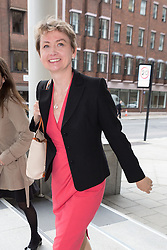 © Licensed to London News Pictures. 01/09/2015. London, UK. Yvette Cooper arrives at Channel 4 studios in London today for a Labour leadership debate. Photo credit : Vickie Flores/LNP