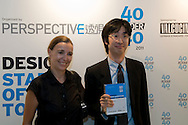 Embassy Projects founder Adrian Wong receives his 40 Under 40 Perspective magazine award.