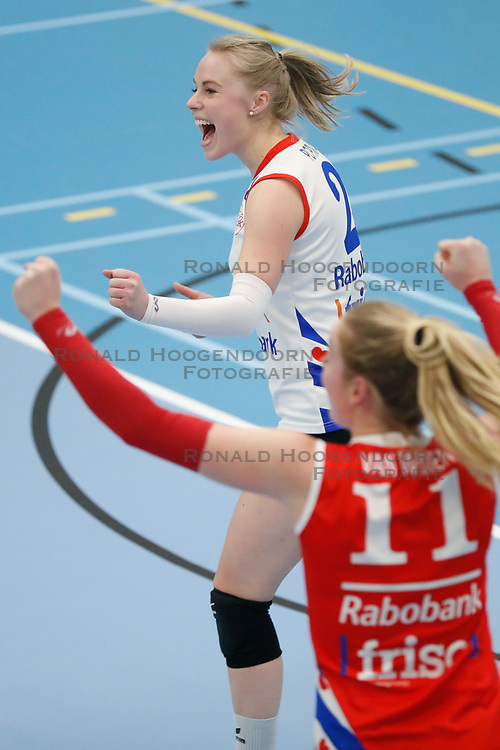 20180303 NED: Eredivisie Sliedrecht Sport - VC Sneek, Sliedrecht <br />Janieke Popma of VC Sneek <br />©2018-FotoHoogendoorn.nl / Pim Waslander