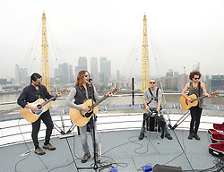 30 Seconds to Mars perform a unique one-off gig at the top of the O2 Arena roof, to promote their new album <br /> Love Lust Faith + Dreams, <br /> London, United Kingdom<br /> Tuesday, 18th June 2013<br /> Picture by Elliot Franks / i-Images