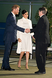 February 12, 2019 - London, London, United Kingdom - Prince Harry and Meghan Duchess of Sussex arrive at the Natural History Museum gala performance of 'The Wider Earth' in support of The Queen's Commonwealth Trust and The Queen's Commonwealth Canopy. London, United Kingdom. 12 February 2019 (Credit Image: © Ray Tang/ZUMA Wire)
