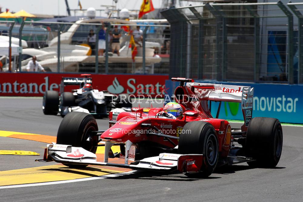 Motorsports / Formula 1: World Championship 2010, GP of Europe, 07 Felipe Massa (BRA, Scuderia Ferrari Marlboro),  03 Michael Schumacher (GER, Mercedes GP Petronas),
