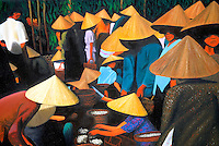 Vietnam. Hanoi. Peinture d'un artiste local. // Vietnam. Hanoi. Painting from local artist.