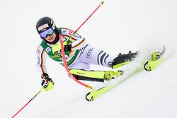 January 7, 2018 - Kranjska Gora, Gorenjska, Slovenia - Marina Wallner of Germany competes on course during the Slalom race at the 54th Golden Fox FIS World Cup in Kranjska Gora, Slovenia on January 7, 2018. (Credit Image: © Rok Rakun/Pacific Press via ZUMA Wire)