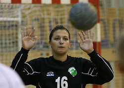 Goalkeeper of Olimpija Branka Zec at  handball game between women team RK Olimpija vs ZRK Brezice at 1st round of National Championship, on September 13, 2008, in Arena Tivoli, Ljubljana, Slovenija. Olimpija won 41:17. (Photo by Vid Ponikvar / Sportal Images)