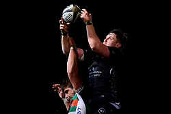 Guinness PRO14, Rodney Parade, Newport, UK 06/03/2020<br /> Dragons vs Benetton Rugby<br /> Matthew Screech of Dragons wins the line out for Dragons Rugby<br /> Mandatory Credit ©INPHO/Ryan Hiscott