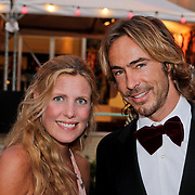 NLD/Utrecht/20110930 - NFF 2011 - Inloop Gouden Kalveren 2011, Chris Zegers en zwangere partner Marije Braber