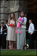REBECCA ABREY; ALICE HART , The Tercentenary Ball, Worcester College. Oxford. 27 June 2014
