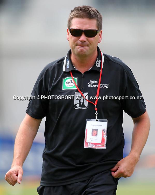 New Zealand Cricket Media Manager Michael Henstock. <br /> Women's International Twenty20 cricket match - New Zealand White Ferns v Australia Southern Stars at AMI Stadium, Christchurch. Sunday 28 February 2010.