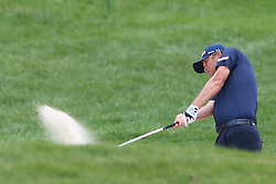 June 22, 2018 - Cromwell, Connecticut, United States - Matt Jones hits out of a bunker on the 8th hole during the second round of the Travelers Championship at TPC River Highlands. (Credit Image: © Debby Wong via ZUMA Wire)