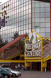 Yellow quadrant entrance Metro Centre Gateshead Tyneside UK