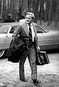 "(January 1977 – Plains, Georgia)  Charles Schultze, (Carter's designee for Chairman of the Council of Economic Advisors) arrives at he Carter's family retreat ""Pond House"" just outside of the small south Georgia town of Plains.<br />